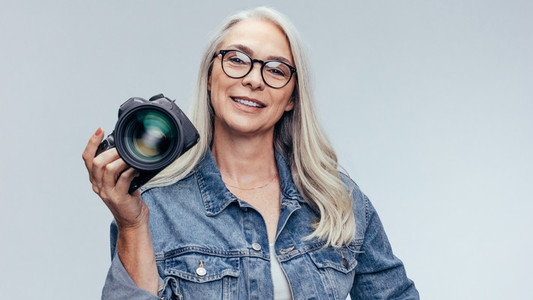 Senior professional photographer