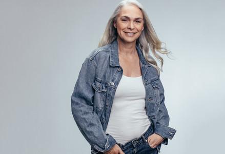 Stylish senior woman