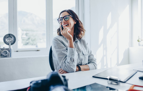 Female creative professional at her desk