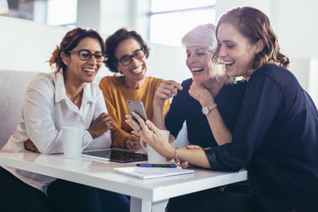 Businesswomen during work break