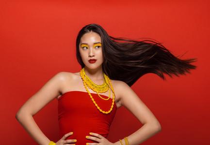 Beautiful asian female model