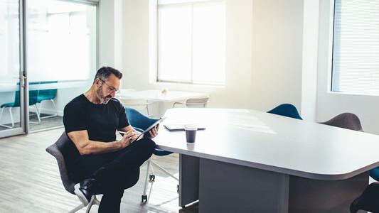 Entrepreneur in a modern office space