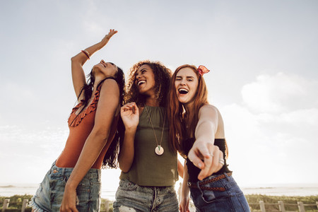 Girls enjoying summer holidays