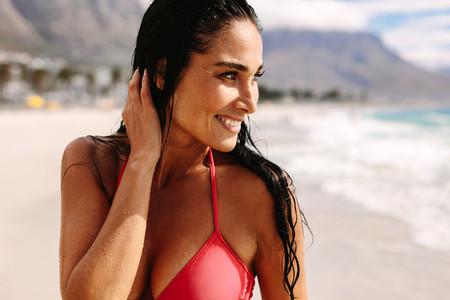 Beautiful woman on summer holidays
