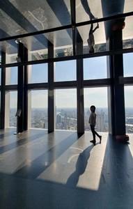 People in modern building 01