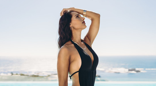 Woman posing in a bikini