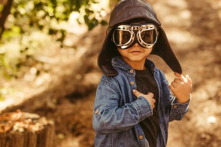 Cute boy pilot