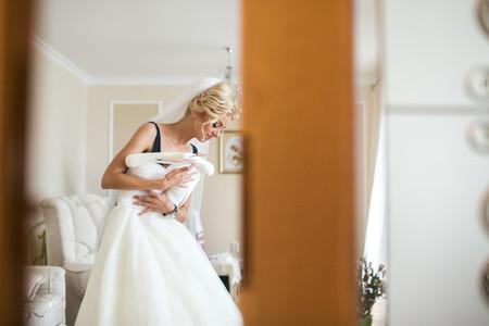 Adorable bride preparation