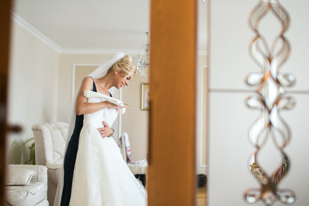 Adorable bride preparation