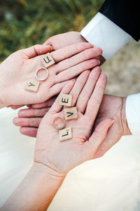 Cute message Love you holded in hands