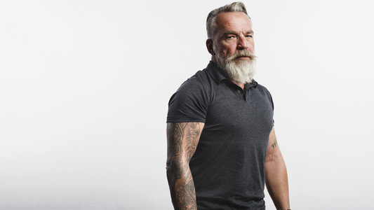 Senior caucasian man with a beard