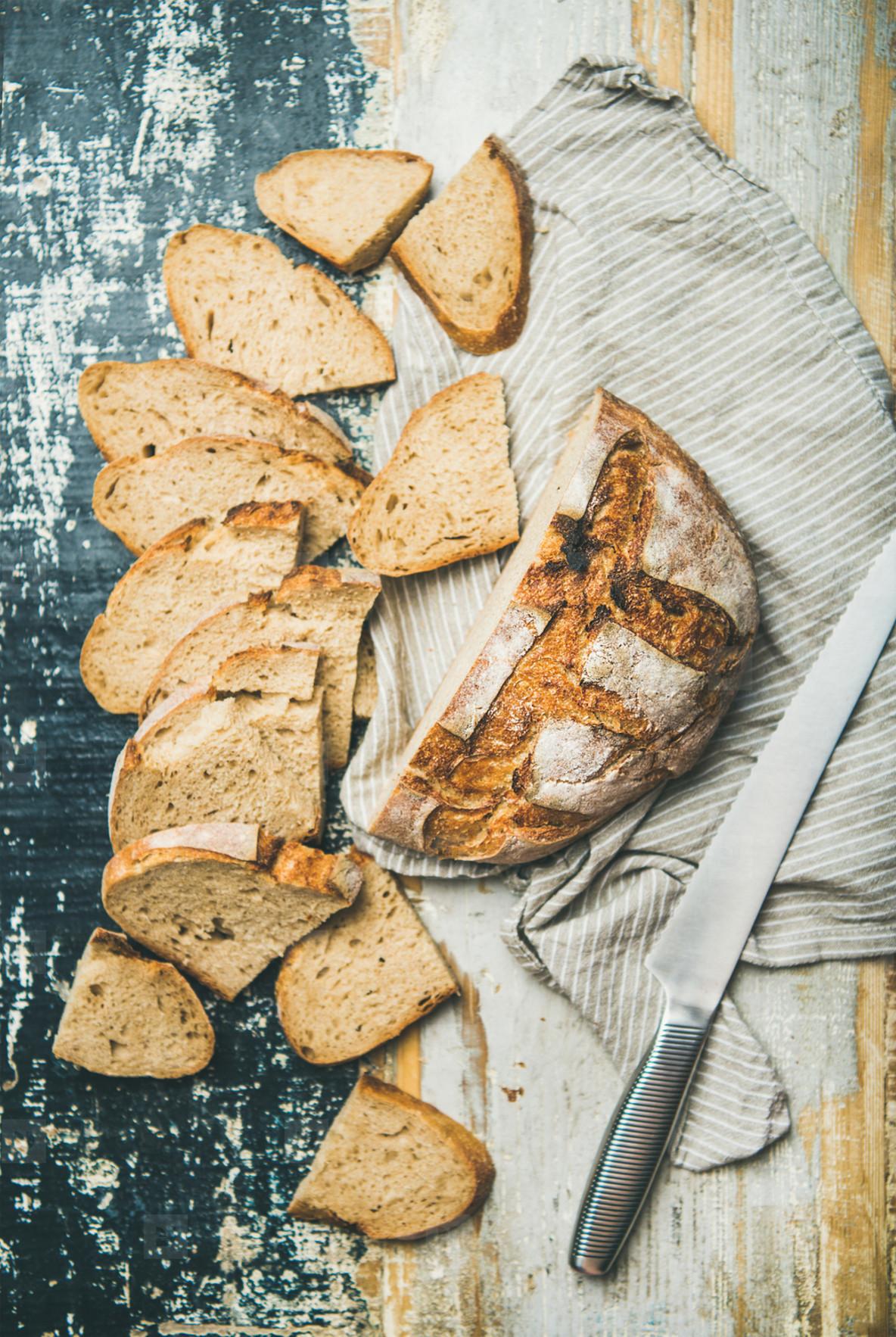Sourdough wheat bread loaf