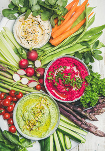 Healthy summer vegan snack plate for vegetarian party top view