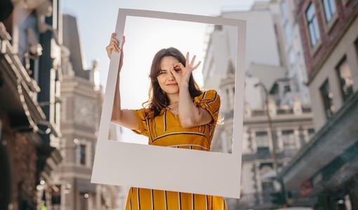Pretty woman posing for a portrait