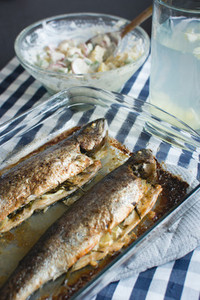 Homemade baked fish