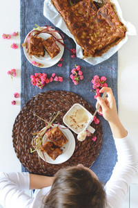 Homemade soft puffy cake