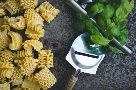 Pasta with cheese grater