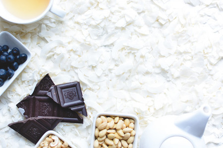 Tea time with paleo snack