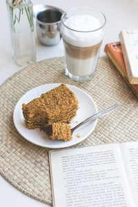 Czech honey cake with caffee