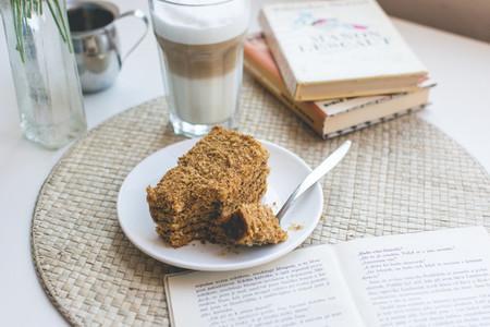 Czech honey cake with caffee