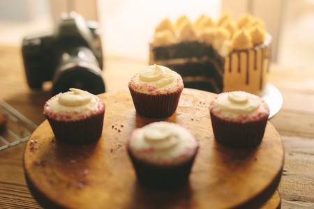 Freshly made cupcakes