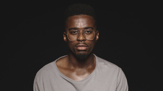 Portrait of an african man in eyeglasses