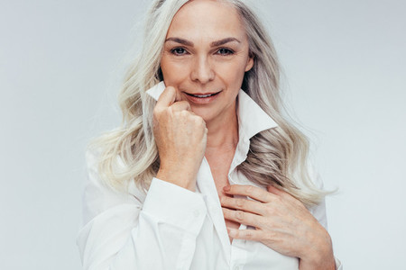 Mature woman looking attractive