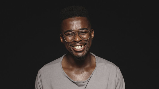 Portrait of a happy african man