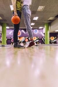 Couple at bowling club