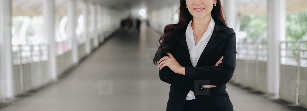 Successful asian senior businesswoman