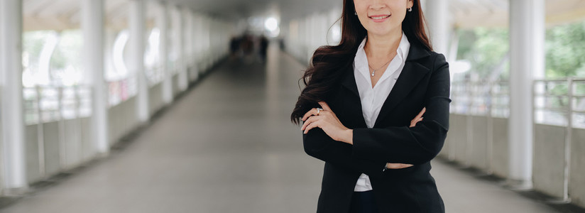 Successful asian senior businesswoman