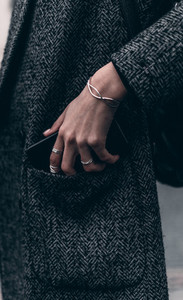 Girl hand with jewelry