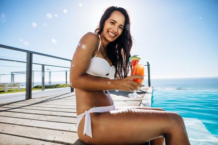 Woman enjoying her summer vacation