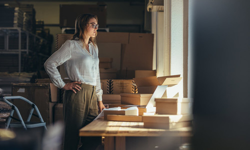 Selling online business owner at office