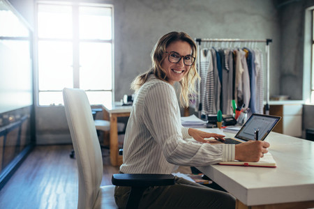 Successful online store owner