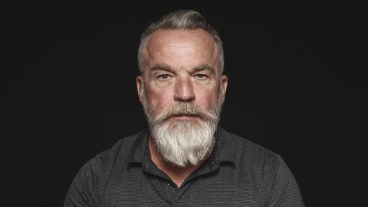 Senior man with a beard