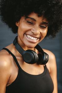 Smiling fitness female