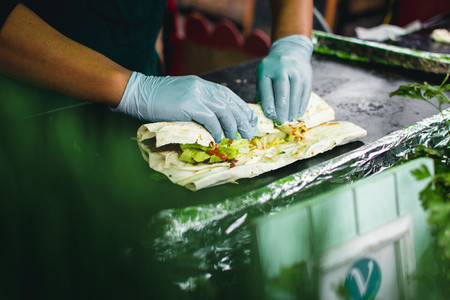 Preparing healthy wrap