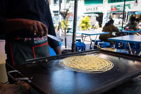 Preparing indian noodles