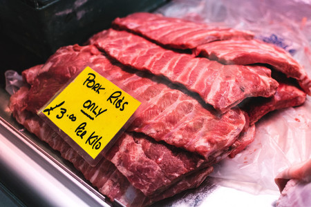 Raw pork ribs for sale