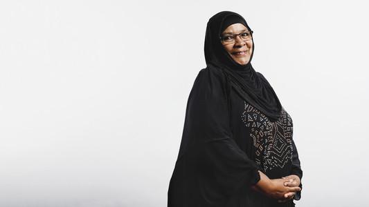 Portrait of an islamic woman in hijab