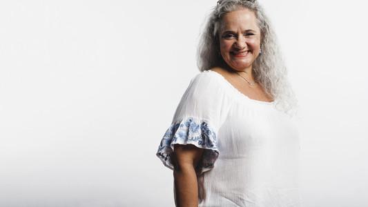 Portrait of cheerful senior woman