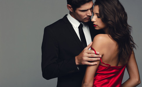 Couple in a sensual moment