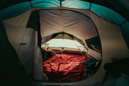 Bed in the outdoors