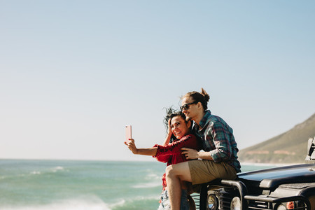 Making memories during their road trip