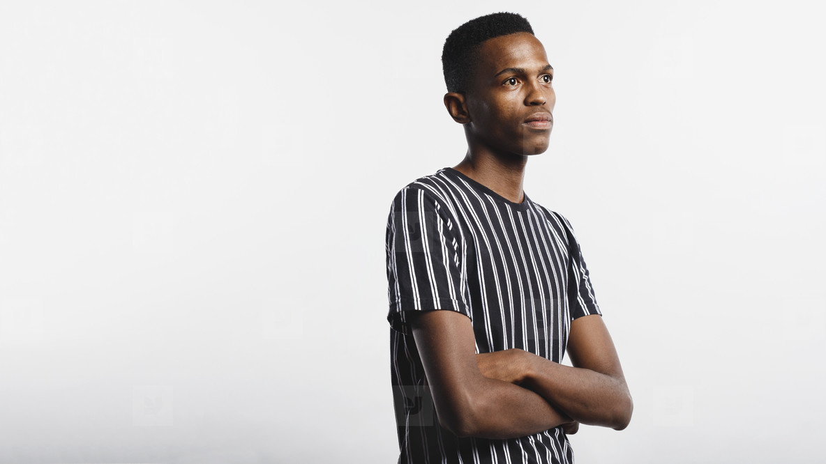 African man with arms crossed