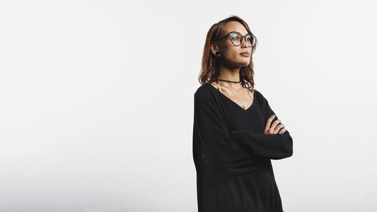 Portrait of woman in eyeglasses