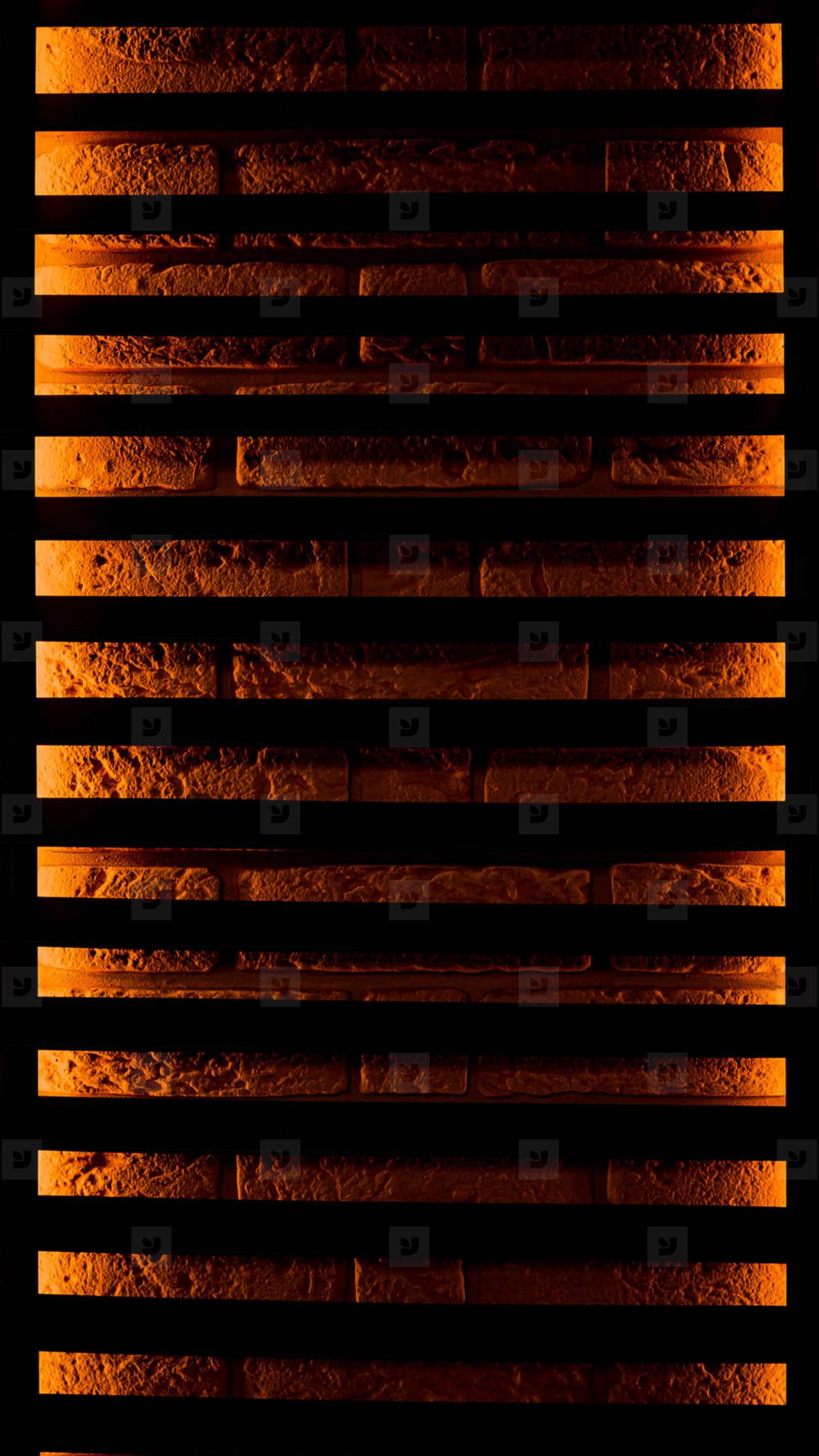 vertical background of brick with backlight on the grid  Concept