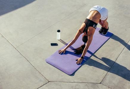 Fitness woman practising yoga