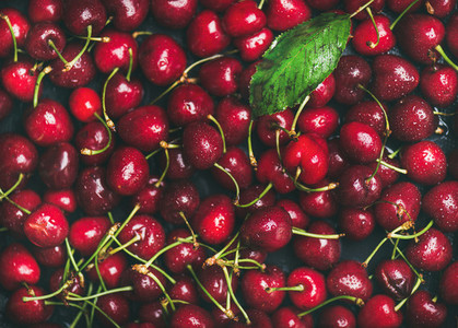 Fresh sweet cherry texture wallpaper and background